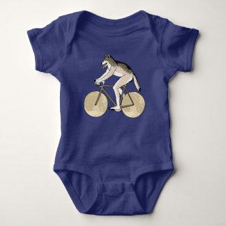 Werewolf Riding Bike With Full Moon Wheels Baby Bodysuit