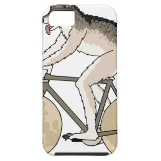 Werewolf Riding Bike With Full Moon Wheels iPhone 5 Cases