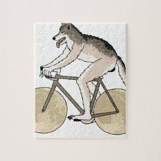 Werewolf Riding Bike With Full Moon Wheels Jigsaw Puzzle
