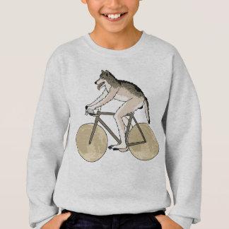 Werewolf Riding Bike With Full Moon Wheels Sweatshirt