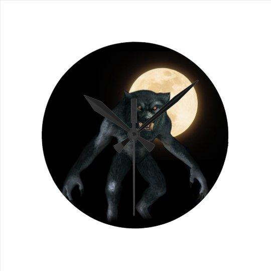 Werewolf Round Clock