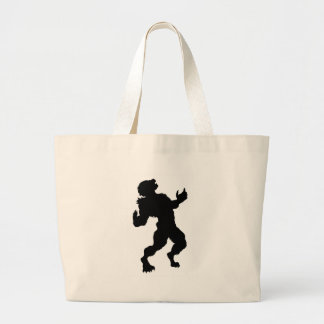 Werewolf Silhouette Large Tote Bag