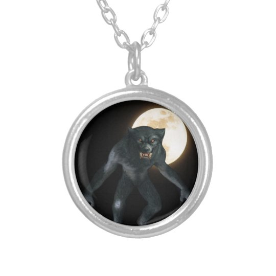 Werewolf Silver Plated Necklace