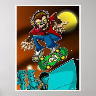 Werewolf Skater Poster