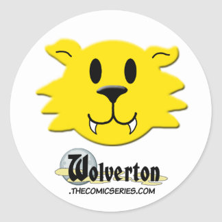 Werewolf Smiley Classic Round Sticker