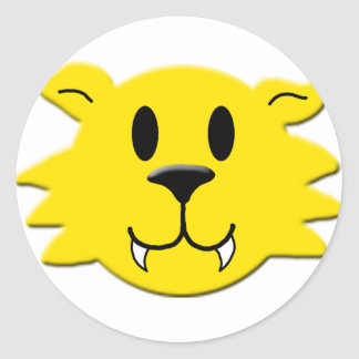 Werewolf Smiley Classic Round Sticker
