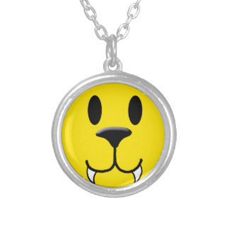 Werewolf Smiley Silver Plated Necklace