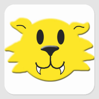 Werewolf Smiley Square Sticker