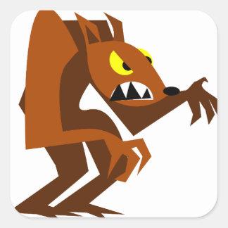 Werewolf Square Sticker