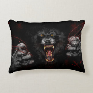 Werewolf Tearing Out Your Heart Decorative Cushion