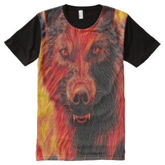 Werewolf Wolf Spirit Dark Horror Fantasy Art All-Over Print T-Shirt