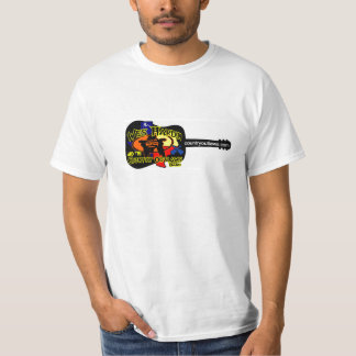 wes hardin country outlaw guitar logo T-Shirt