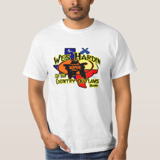 Wes Hardin Country Outlaw Texas logo T T-Shirt