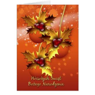 Wesolych Swiat Bozego Narodzenia Polish Card