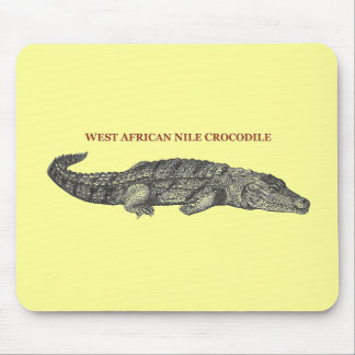 West African Nile Crocodile Mouse Pad