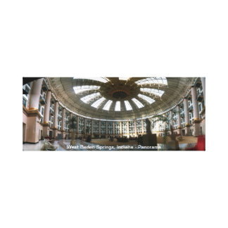 West Baden Springs, Indiana - Panorama Gallery Wrapped Canvas