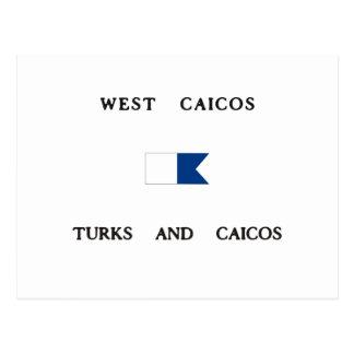 West Caicos Alpha Dive Flag Post Cards