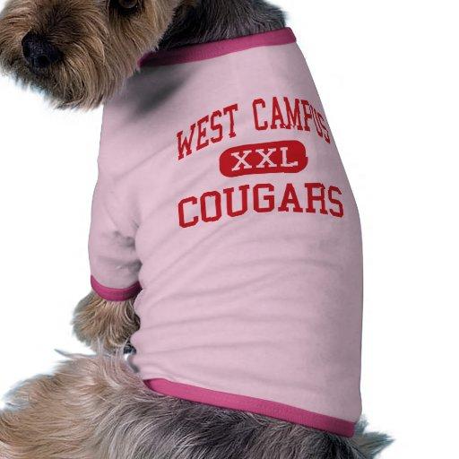 West Campus - Cougars - High - San Antonio Texas Pet Tee Shirt