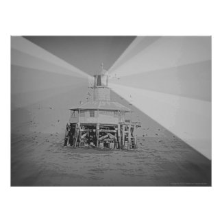 West Channel Pile Light Poster