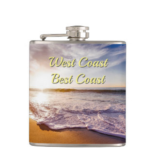 West Coast Best Coast- Beach Hip Flask