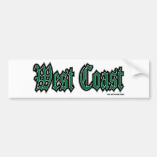 West Coast Bumper Sticker