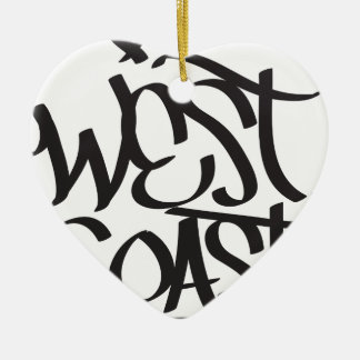 west coast ceramic heart decoration