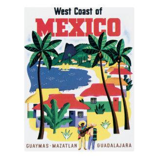 West Coast of Mexico Vintage Postcard