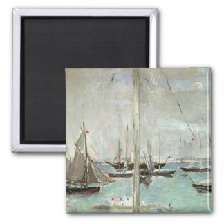 West Cowes, Isle of Wight by Berthe Morisot Square Magnet