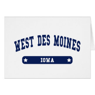 West Des Moines Iowa College Style tee shirts Card