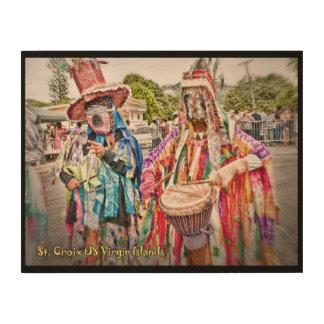 West End Masqueraders Musicians Virgin Islands Wood Wall Art
