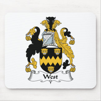 West Family Crest Mouse Pad