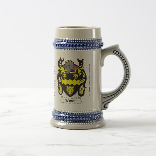 West Family Crest Stein Coffee Mugs