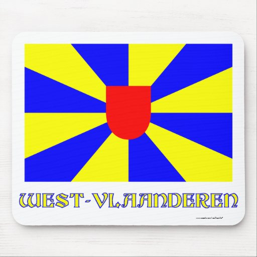 West Flanders Flag with Name Mousepad