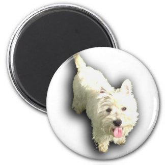 West Highland Terrier 6 Cm Round Magnet