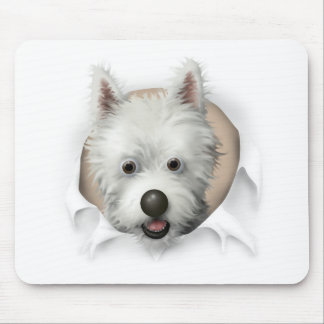 West Highland Terrier Busting Out Mouse Pad
