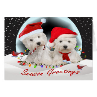 West Highland Terrier Christmas Pals Card