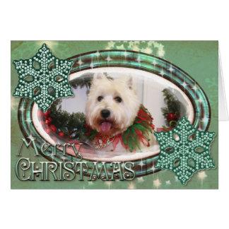 West Highland Terrier Christmas Photocard Card