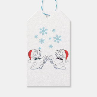 West Highland Terrier Christmas Wrapping Gift Tags