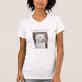 """"""" West Highland Terrier"""" Dog Art T-shirt"""