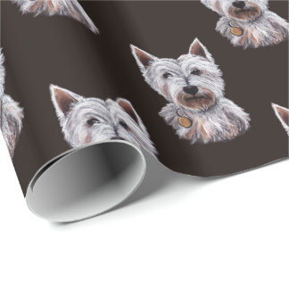 West Highland Terrier Dog Illustration Patterned