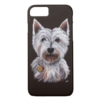 West Highland Terrier Dog Pastel Pet Illustration iPhone 7 Case