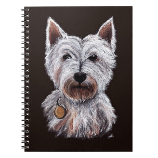 West Highland Terrier Dog Pastel Pet Illustration Note Book