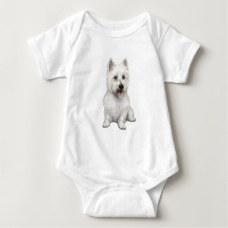 West Highland Terrier (P) Baby Bodysuit