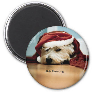 West Highland Terrier Santa Hat Christmas Westie Magnet