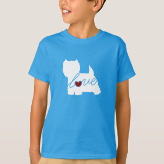 West Highland Terrier (Westie) Love T-Shirt