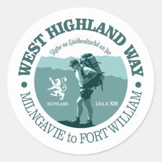 West Highland Way Classic Round Sticker
