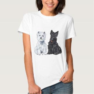 West Highland White & Scottish Terriers T Shirts