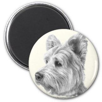 West Highland White Terrier 6 Cm Round Magnet