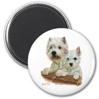 West Highland White Terrier 6 Cm Round Magnet