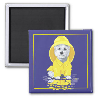 West Highland White Terrier April Showers Refrigerator Magnets